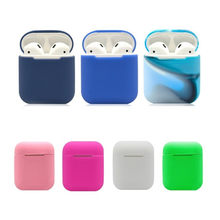 Silicone Bluetooth Earphone Case For AirPods Protective Cover Skin for Apple Airpods Charging Box(China)