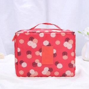 Image 3 - Estuche para maquillaje multifuncional, bolsa de viaje para cosméticos, bolsa de almacenamiento organizadora
