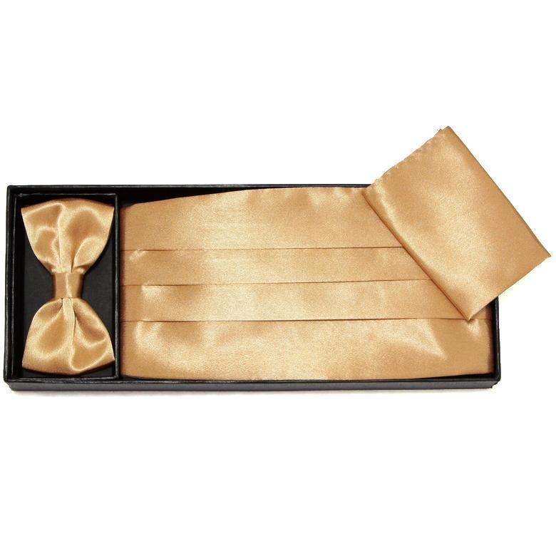 HOOYI 2019 Gift Box Cummerbunds Bowties Ceremonial Belt Sash Belts Butterfly Set Handkerchiefs Pocket Square Necktie