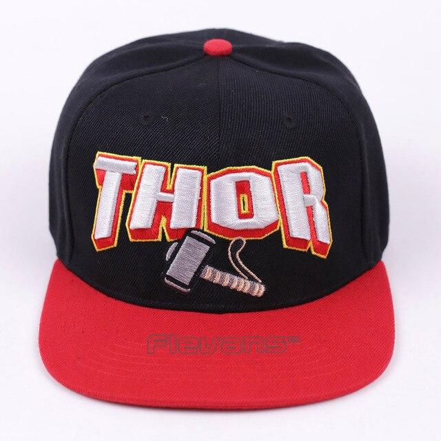 3647ee857c2 Mens Fashion Snapback Hip Hop Caps Marvel Avengers Thor Baseball Cap  Adjustable Hat
