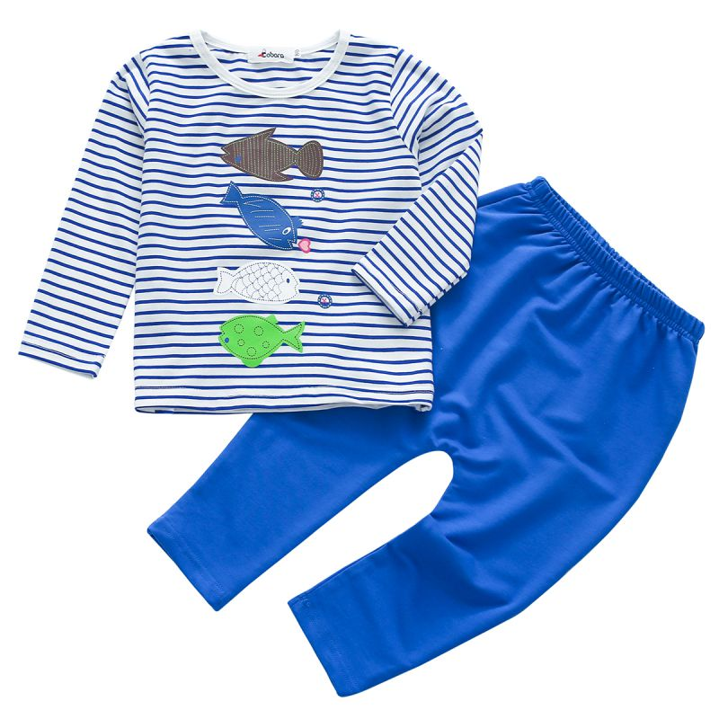 Bobora Children's Clothing Trousers Striped Clothes Sets