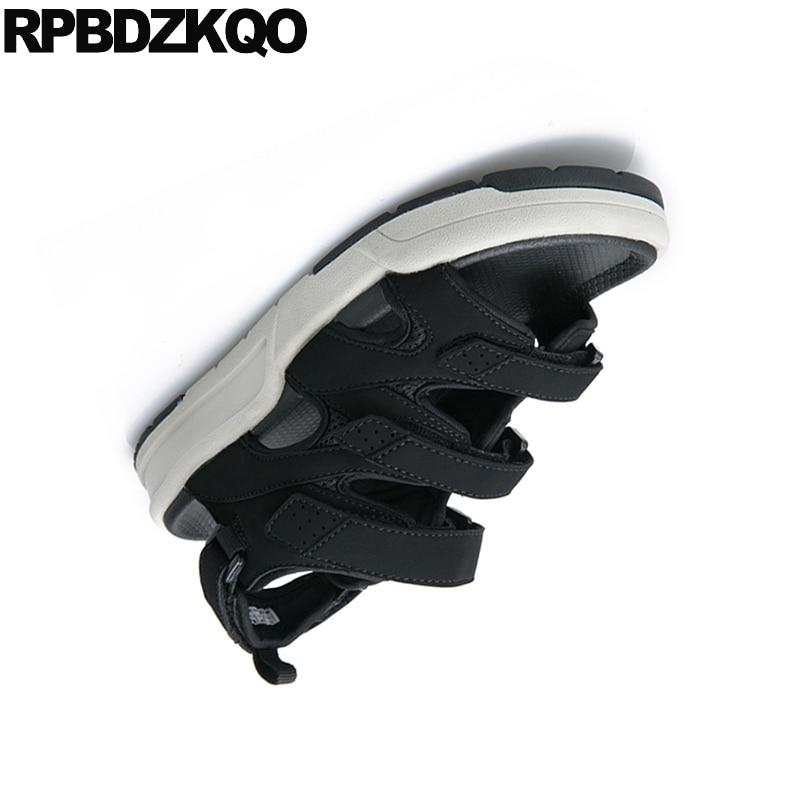 Sneakers black D'été Designer black Chaussures Respirant Blanc 45 Marque Cuir Plate Célèbre Red Flower grey White forme Gladiateur Taille En white Noir Sandales Hommes Romain black Grand xSqxfAPw0