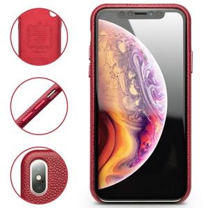 Image 2 - Роскошный чехол QIALINO из натуральной кожи для Apple iphone X/XS 5,8 дюйма, стильный ультралегкий чехол накладка для iPhone XS MAX 6,5 дюйма