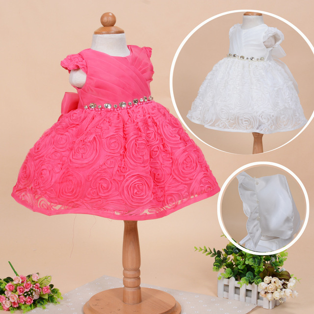2016 Rushed Time-limited Ball Gown Baby Girl Dress Christening Dresses 1 Year Birthday Party Newborn Kids Christmas Clothing