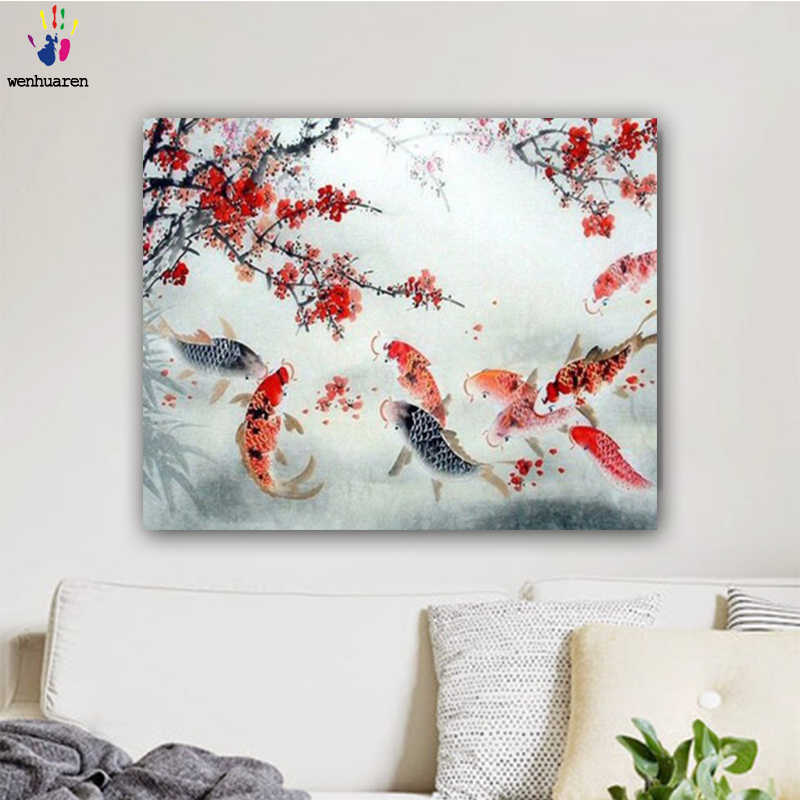 DIY colorings pictures by numbers with colors Abstract paintings of animals picture drawing painting by numbers framed Home