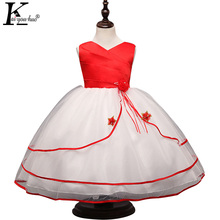 KEAIYOUHUO 2017 Girls Dress Sleeveless Summer Girls Clothes Chiffon Wedding Dresses For Kids Costume 4 10