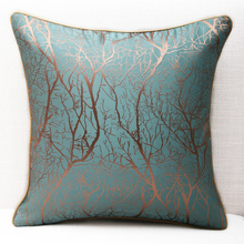 Modern Pillow Case Hidden Zipper Square European Tree Pattern Jacquard Cover Latest Soft Simple Elastic Cushion 1pc