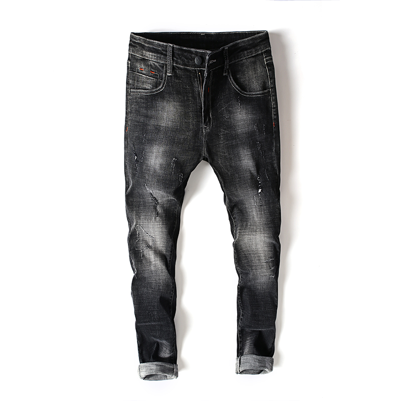 SULEE New Men's Jeans Business Style Design Elastic Smart Casual Regular Straight Long Jeans
