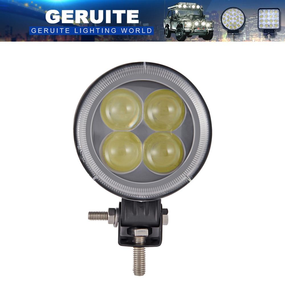 6PCS LED Spot Light 12W 960LM IP67 apaļo automašīnu gaismas signāla josla Āra darba apgaismojums laivu SUV kravas automašīnu veidošanai