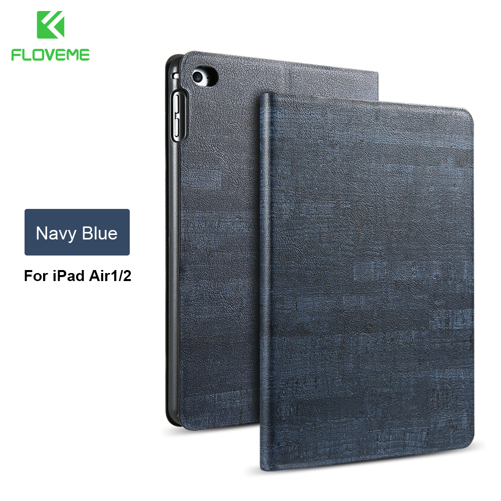 FLOVEME Smart Sleep Wake Case For iPad Air 1 2 iPad 5 6 Durable PU Leather Flip Tablet Accessories Stand Cover For iPad Air 1 2 купить