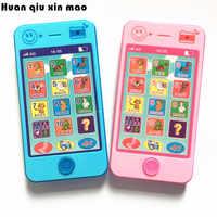 Crianças telefone educativo simulationp música celular brinquedo telefone mais recente versão do russo idioma bebê brinquedo telefone
