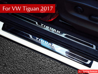 For VW Tiguan 2016 2017 2018 MK2 Europe Version Car Scuff Plate Door Sill Trim Welcome