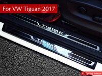 For VW Tiguan 2016 2017 2018 MK2 Europe Version Car Scuff Plate Door Sill Trim Welcome