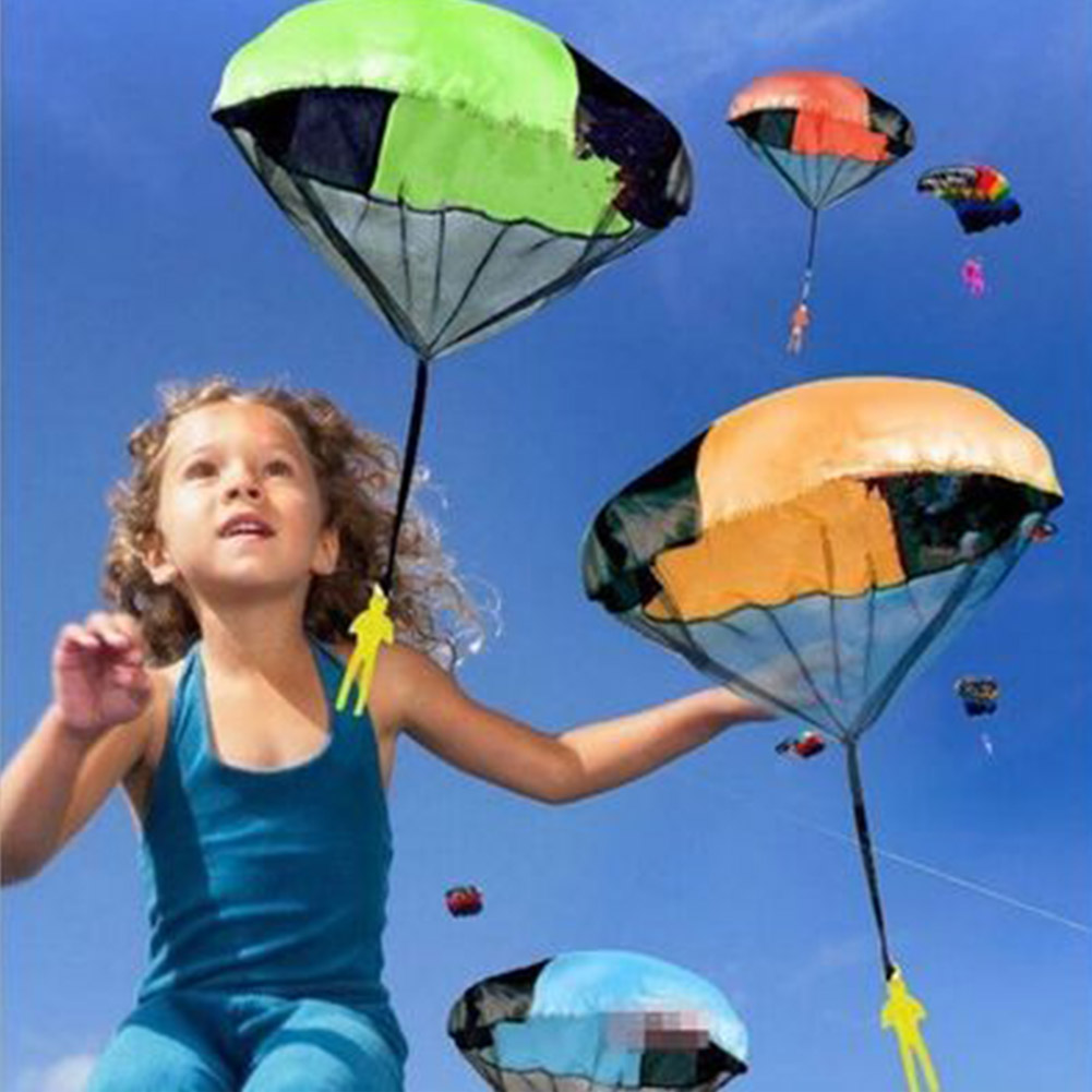Hand Throwing kids mini play parachute toy soldier Outdoor sports Children's Educational Toys
