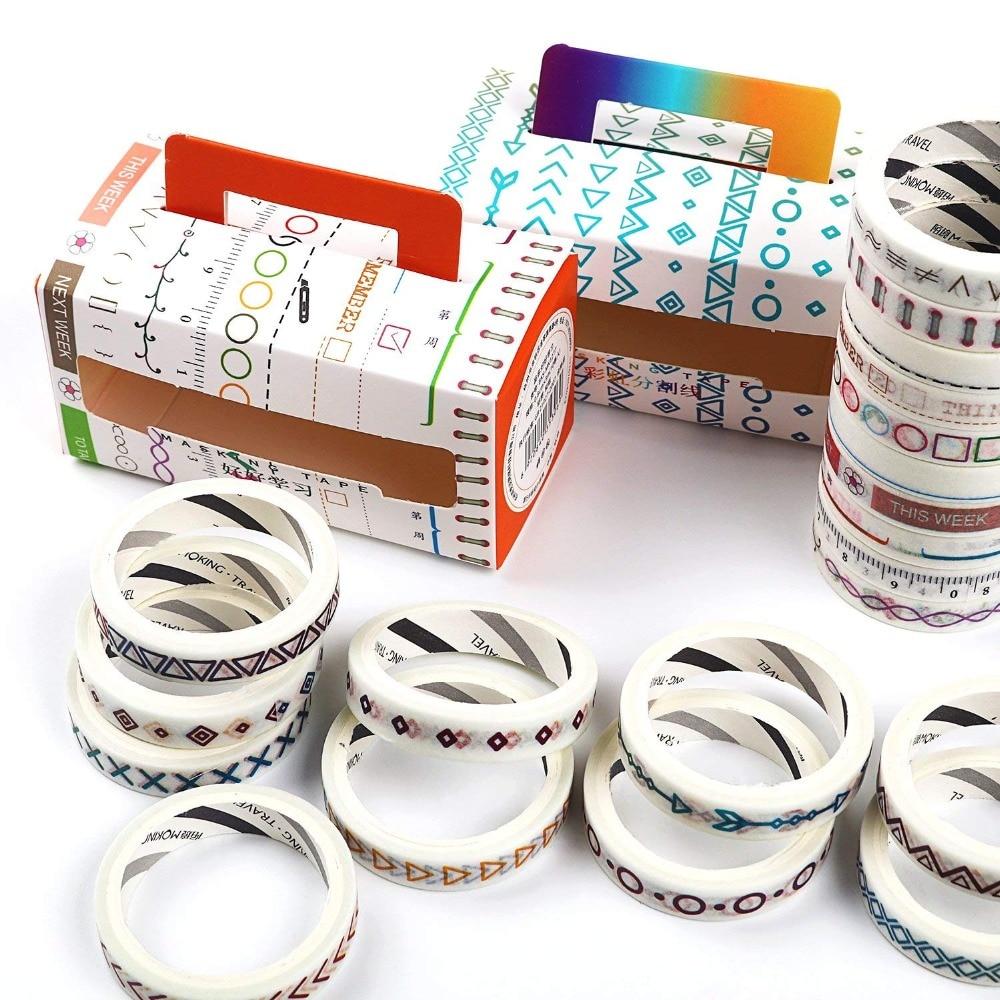 10 Rolls/pack Flowers Alphabet Washi Tape DIY Decorative Scrapbooking Masking Tape Adhesive Label Sticker Tape Stationery