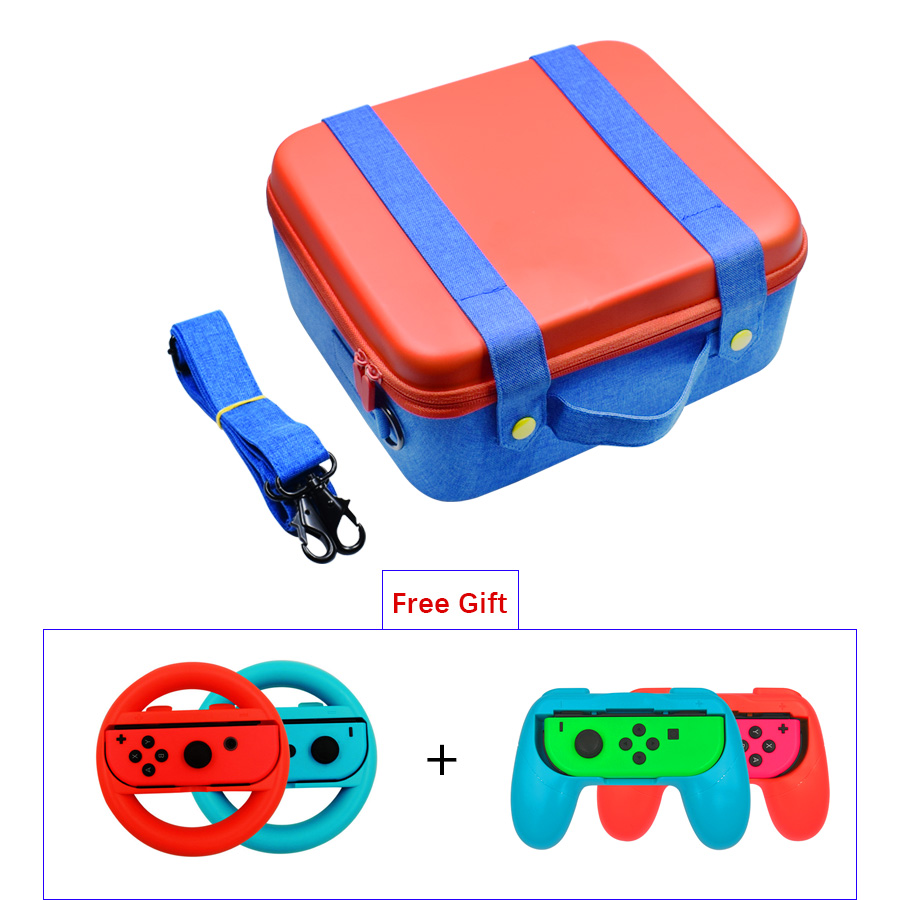 Multifunction Big Capacity EVA Portable Hard Shell Protective Storage Carrying Bag Case for Nintend Switch Accessories Kit
