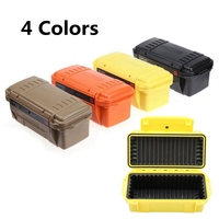 Urijk Firm Outdoor Shockproof Waterproof Boxes Survival Airtight Case Holder Storage Accessory Tools Travel Sealed Organizers