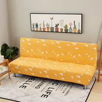 Yellow Universal Stretch Furniture Covers For Living Room Home Decoration Slipcover Removable Anti Dirty Armless Sofa