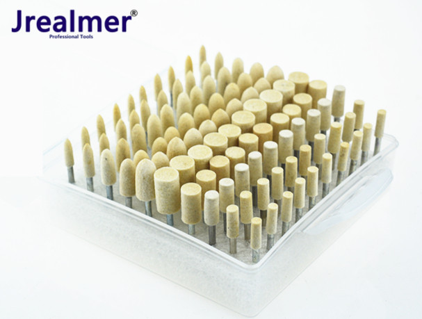 100 Pieces Assorted DIY Wool Felt Mounted Point Precision Felt Buffing Wheel Dremel Burrs Felt Buffing Wheel Dremel Rotary Tools