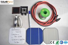 Solarparts 1x 90W 20V DIY solar panel kits with 125 125mm normal monocrystalline solar cell use