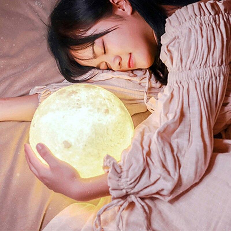 Moon Lamp Perfect Gift LED Moon Light Brightness 3D Print Creative Lunar Light Night Light Moon Light