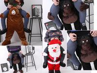 NEW Carry Me Ted Bear Santa Orangutan Mascot Sumo Ride On Fancy Dress Funny Costume Costume
