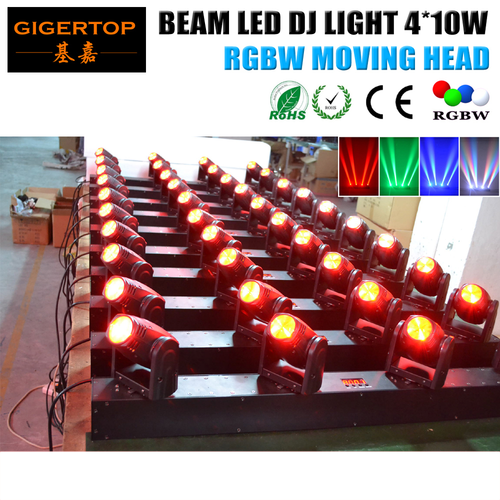4 Pack 4*10W USA Luminus LED Moving Head Bar Light RGBW Color Mixing /Moving Beam Wall Washer/Flood Light DMX 13CH 39CH 6pcs lot 24x4w 4in1 led wall washer light outdoor rgbw led flood light dmx 512 led bar light 90v 240v led stage light