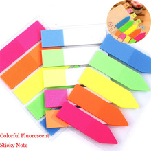Top Selling Colorful PET Memo Pad Fluorescent Post It Sticky Notes Office School Supply Kids Stationery gift