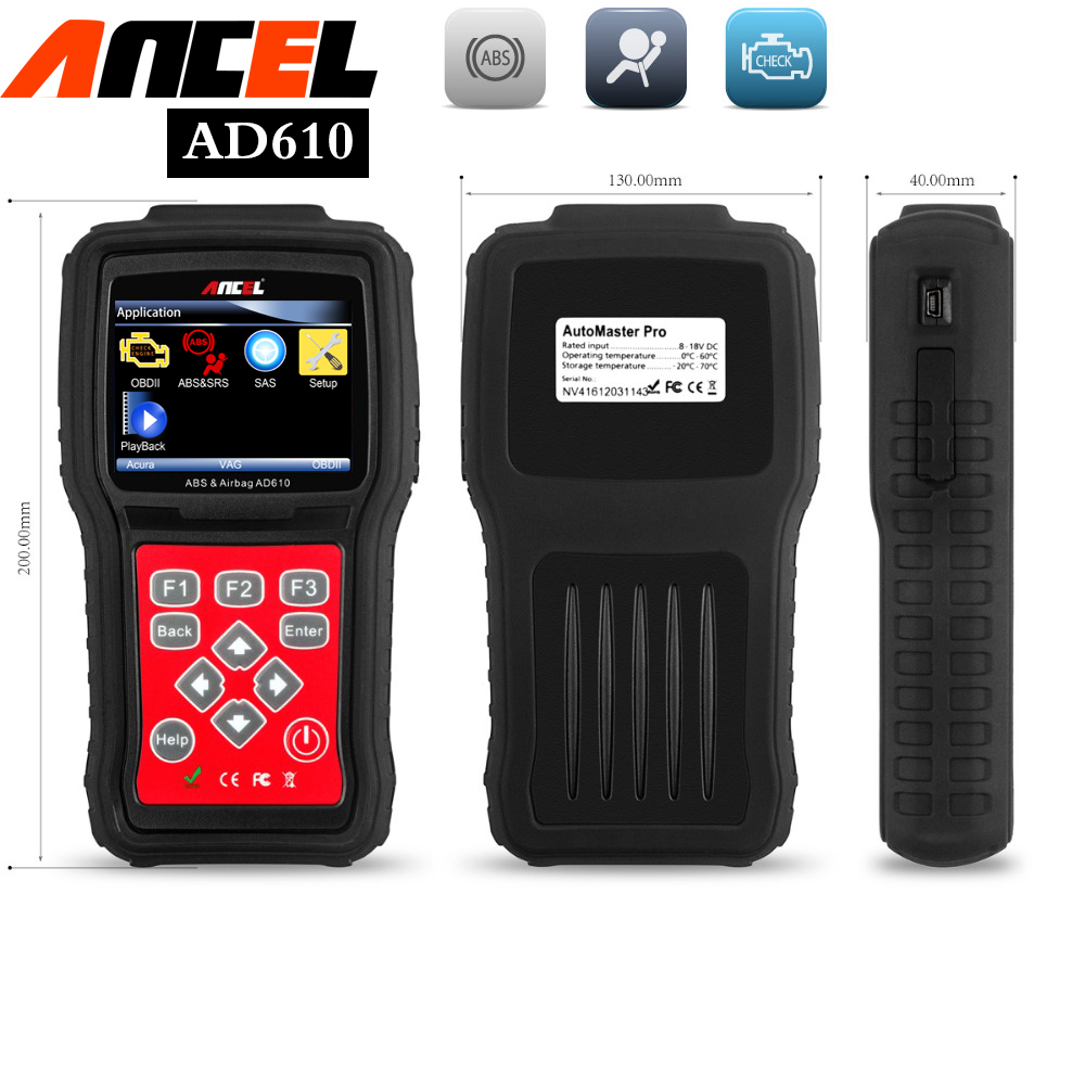 Code readers scan tools sas abs airbag reset ancel ad610 engine analyzer obd2 car diagnostic tools mechanics automotive scanner