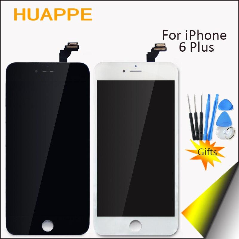 imágenes para Grado AAA 100% Trabajo Sin Píxeles Muertos Para Apple iPhone 6 más Pantalla LCD de 5.5 pulgadas de Pantalla Táctil Con Marco de Alta Calidad definición