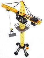 88 cm RC Vinç Uzaktan Kontrol Vinç kulesi 6 Kanal Simülasyon Kule Vinç 360 derece Döndürün Vinç mühendisi inşaat oyuncakları
