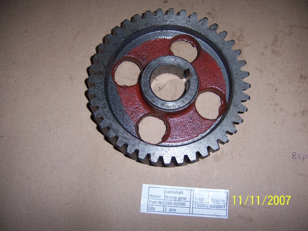 Taishan tractor TS254 TS304 with FD295 FD2100, the camshaft timing gear, part number:295-02006 taishan ts250 254 300 304 tractor parts set of fuel and oil filter for engine fd295t or fd2100t