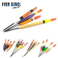 FISH KING 4PCS/Lot Mix Size Color Articulos De Pesca Bobber Set Buoy Boia Floats For Carp Fishing Tackle Accessories flotador