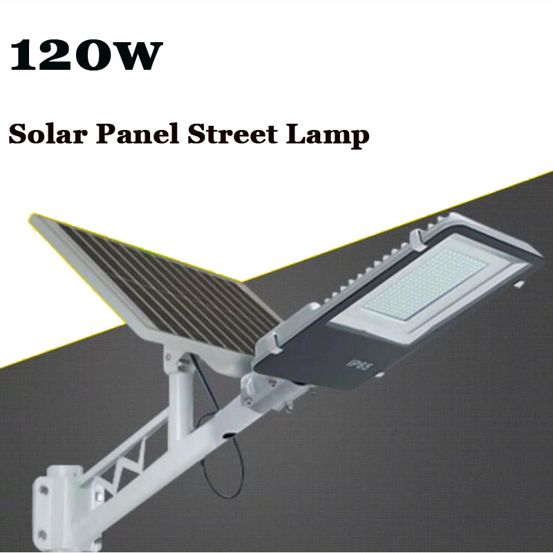 10PC 120W Solar Powerful Remote Control Solar LED Street Lamp Road Light Outdoor Waterproof Garden Path Spot Wall Emergency Lamp new remote control 24 led solar powered panel led street light outdoor path wall emergency lamp security spot light luminaria