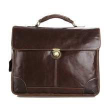Classic Vintage Leather Men's Chocolate Briefcase Laptop Bag Messenger Handbag #7091C
