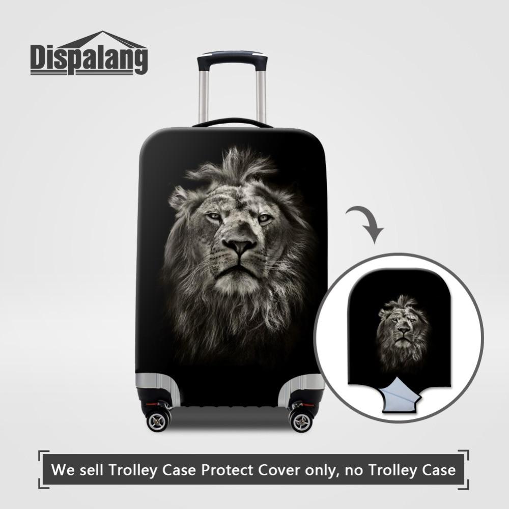 Животный принт эластичные Чемодан защитный Чехлы для мангала для S/M/L с принтом льва относятся к 18-30 дюймов чемодан Крышка Туристические тов...