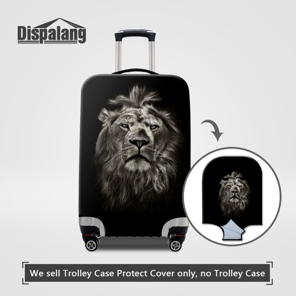 Animal Pattern Elastic Luggage Protective Covers for S/M/L Lion Print Apply to 18-30 inc ...