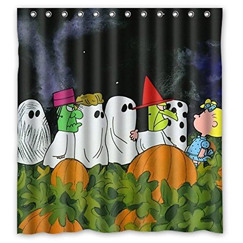 Halloween Night Dark Shower Curtain,Halloween Bathroom