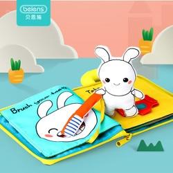 Beiens 3D Yumuşak Bez Bebek Kitapları Hayvanlar ve Araç Montessori bebek oyuncakları yeni Yürümeye Başlayan Çocuklar Için Zeka Gelişimi eğitici oyuncak Hediyeler