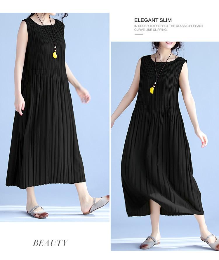 BelineRosa Women's Summer Dresses 17 Pure Color Casual Women Draped Dress Sleeveless Plus Size Dresses for Women QY00001 14