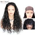 Шелковая основа, волна воды, кружева, передние человеческие волосы, парики, Шелковый топ, предварительно сорванные натуральные волосы, сред...