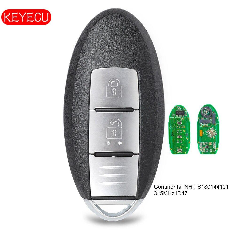 Keyecu télécommande intelligente porte-clés 2 boutons FSK 315 MHz PCF7953 puce pour Nissan Aatima x-trail P/N: S180144101