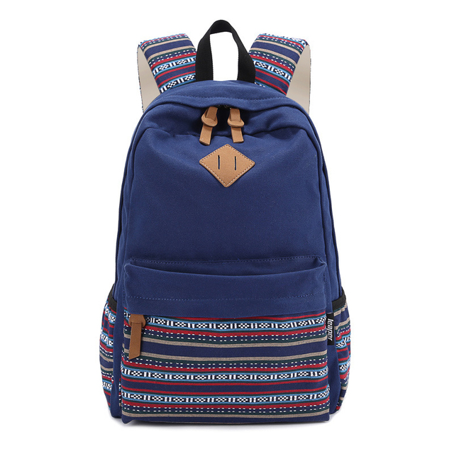 8b2058aac9 EcoCity Fashion Women Backpack Vintage Canvas School Backpacks Girl Lady  Student School bags mochilas for Teenagers Bookbags