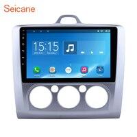 Seicane 2din Android 6,0 9 дюймов Автомобильный мультимедийный плеер радио gps навигации для 2004 2011 Ford Focus Exi MT С WI FI Bluetooth