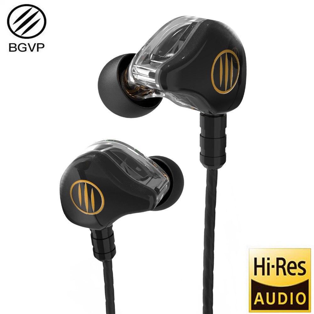 2018 BGVP DS1 Double Armature Équilibrée + Dynamique Hybride Tech Écouteurs MMCX HIFI Fièvre Audiophile Écouteurs Moniter Dans écouteurs oreille