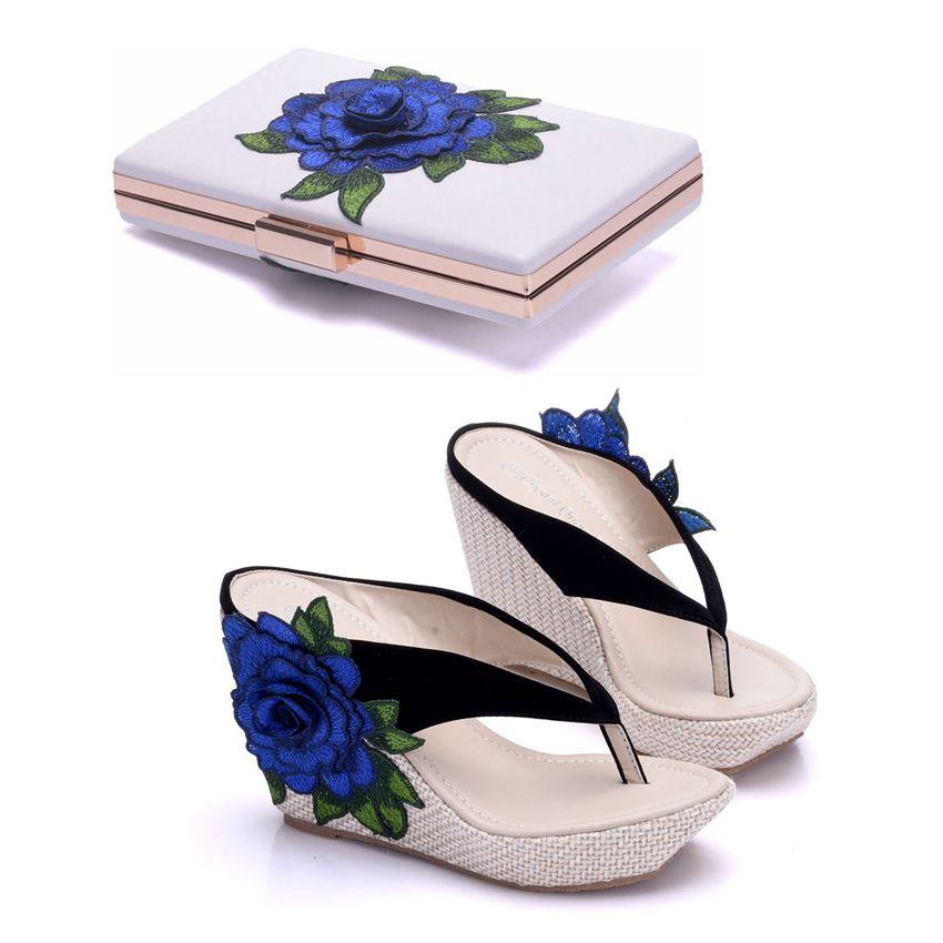 Women Platform High Heels Wedge Slippers Flip Flops Ladies Casual Open Toe Summer Shoes Sandals With