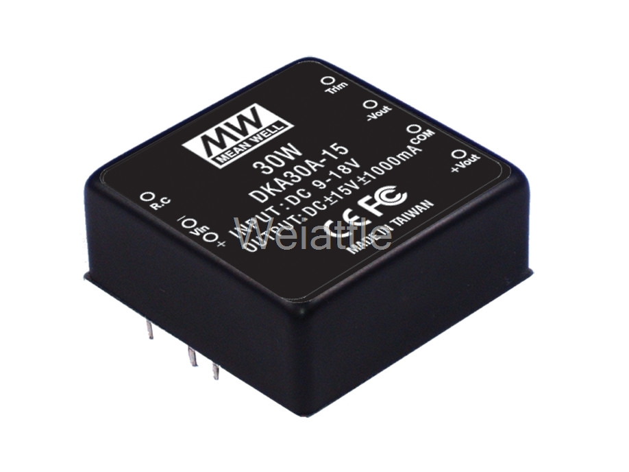 [Cheneng]MEAN WELL original DKA30B-15 15V 1000mA meanwell DKA30 15V 30W DC-DC Regulated Dual Output Converter selling hot mean well dka30b 05 5v 2500ma meanwell dka30 5v 25w dc dc regulated dual output converter
