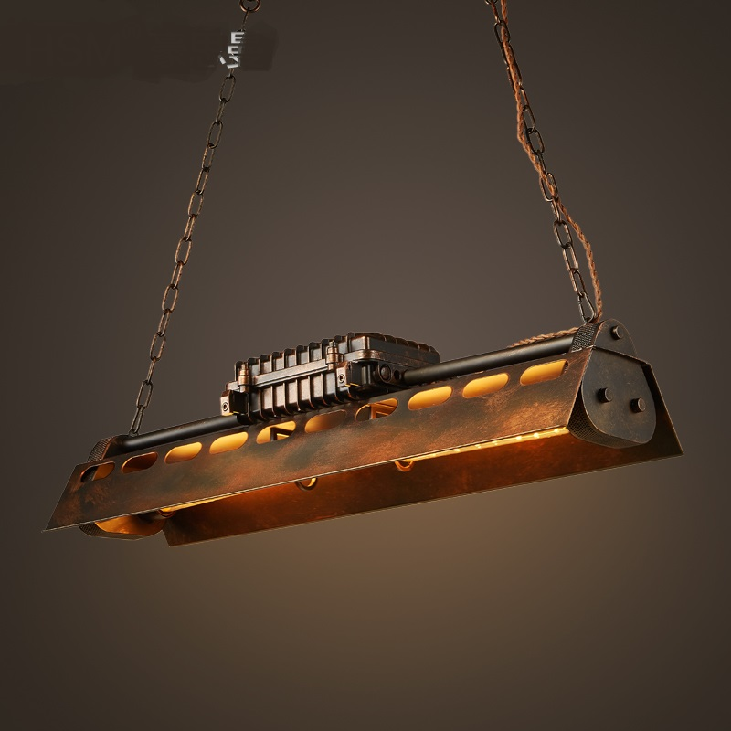 Американский подвесные светильники в стиле ретро промышленных ветровой вал ресторан кафе интернет Лофт ностальгия ржавчины цветные бордо