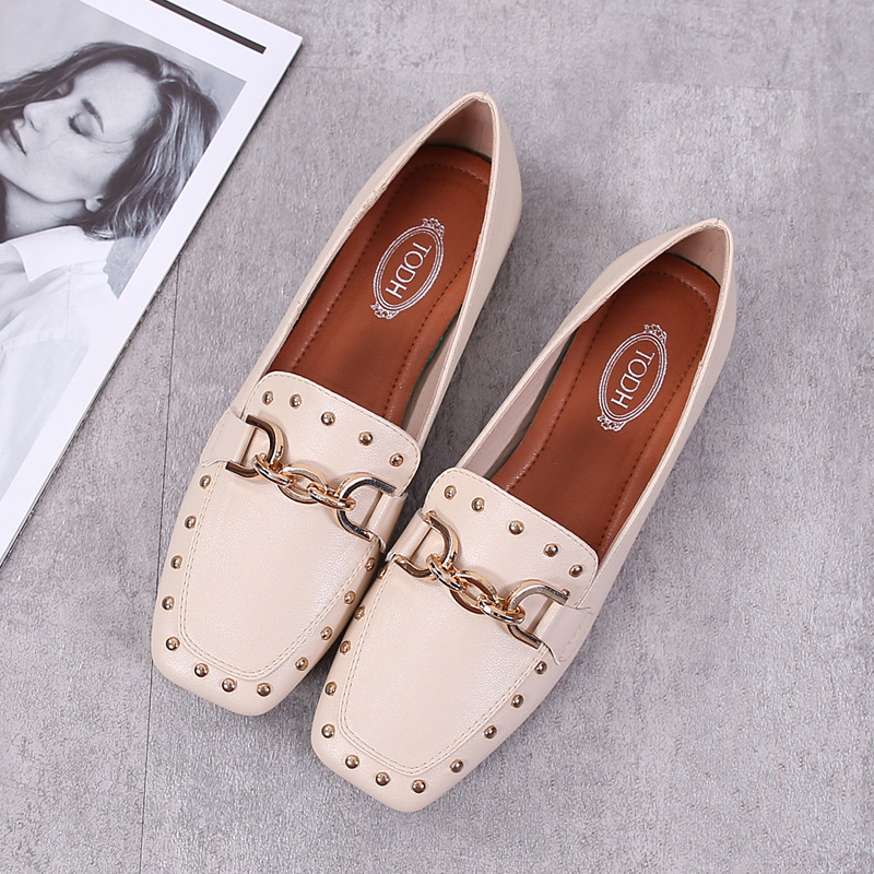 Europe Luxury Women Flats Shoes Retro Ladies Shoes Slip-on Fashion Casual Loafers Woman Party Wedding Basic Brand Shoes Women