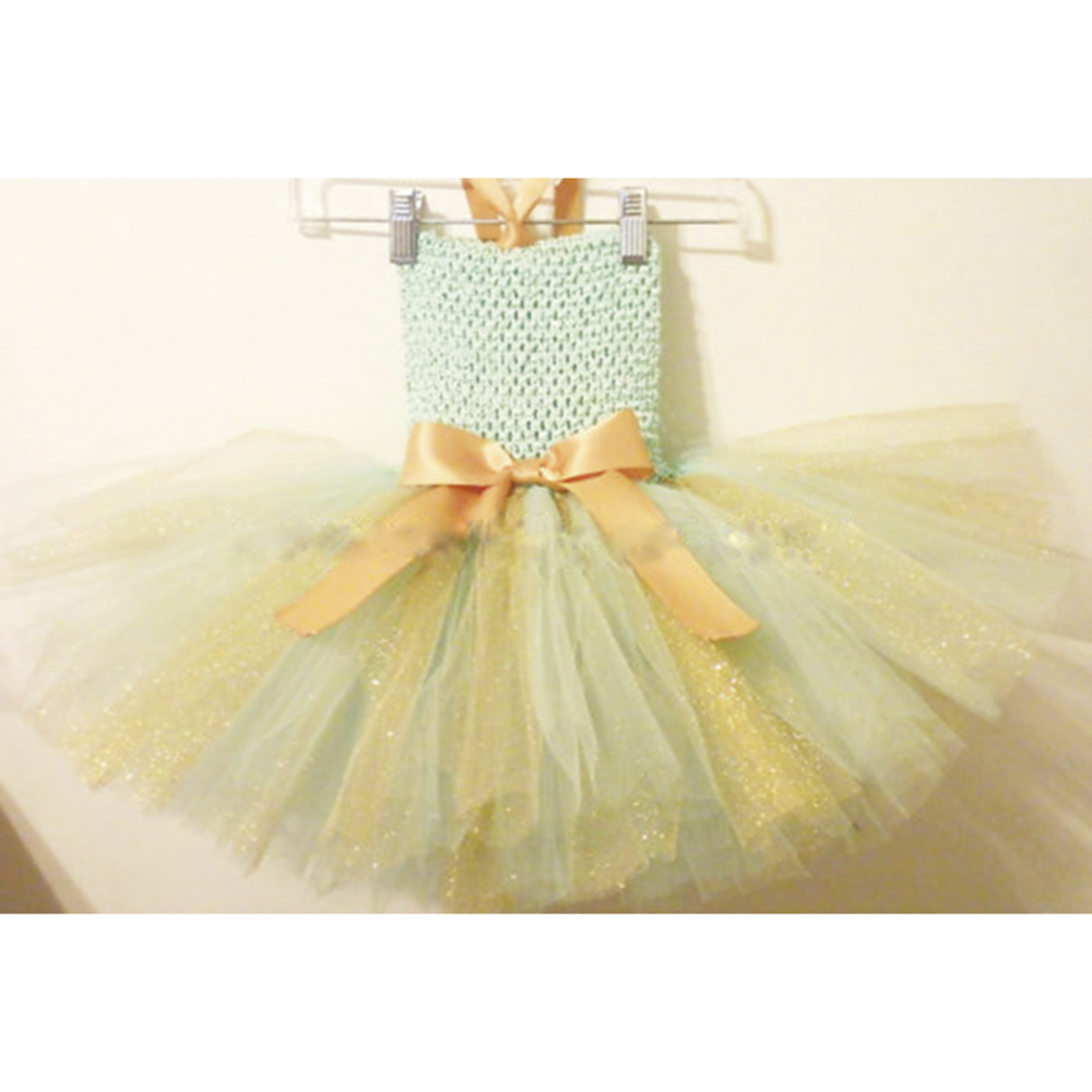 Mint Green wih Gold Shining Tutu Dress Glitter Gold Tutu Dresses For Birthday Outfit Halloween Costume Baby Tutu Baby Dresses